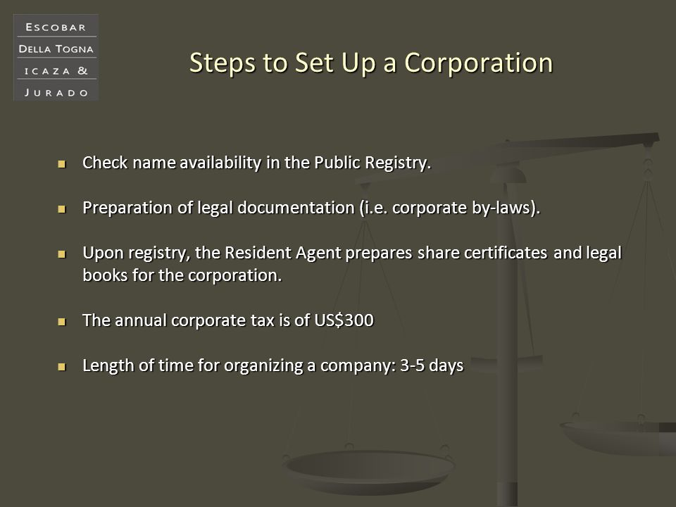 Steps to Set Up a Corporation