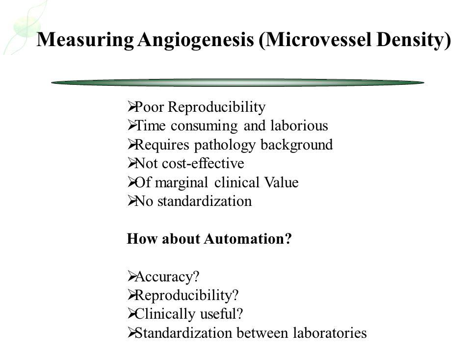 Measuring Angiogenesis (Microvessel Density)