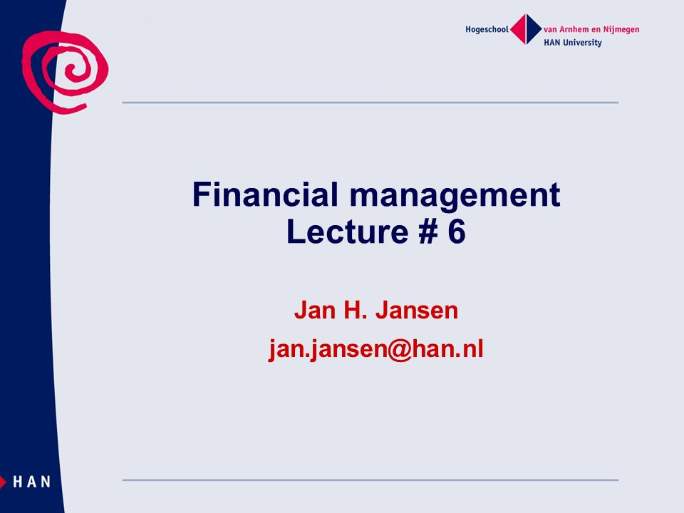 Financial management Lecture # 6