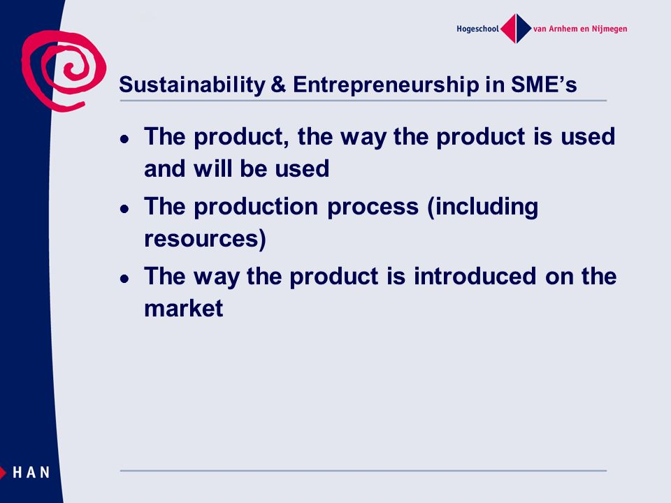 Sustainability & Entrepreneurship in SME's
