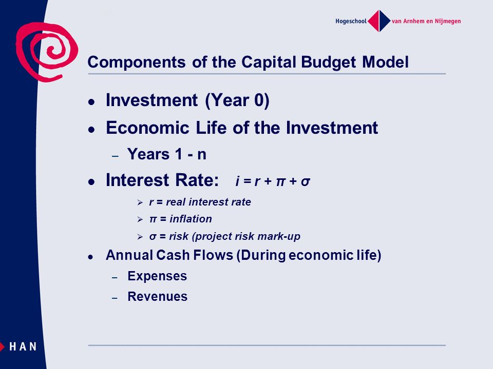 Components of the Capital Budget Model