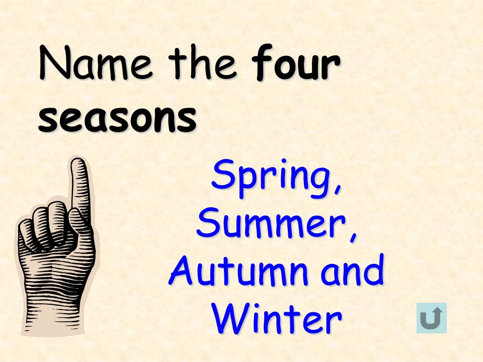 Spring, Summer, Autumn and Winter