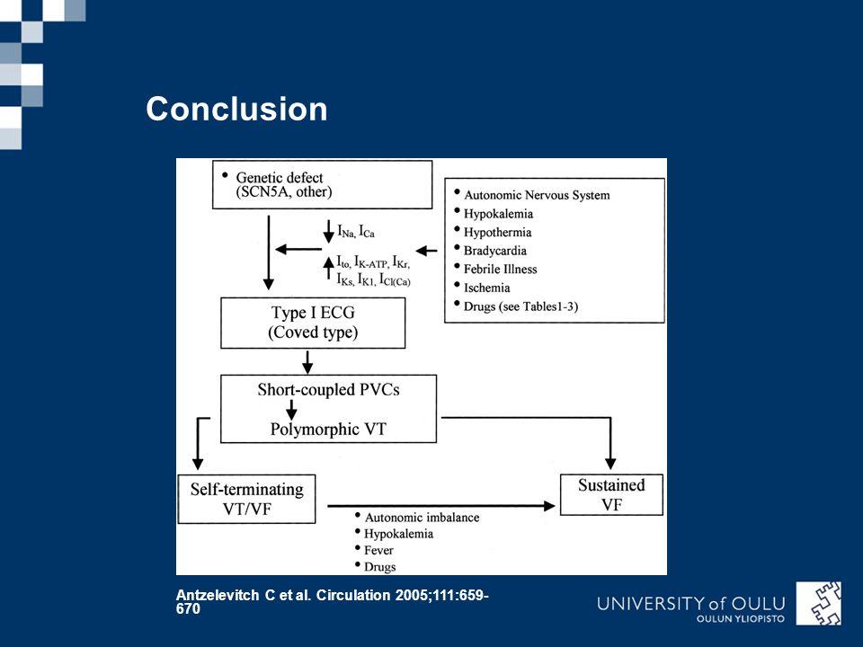 Conclusion Antzelevitch C et al. Circulation 2005;111:659-670