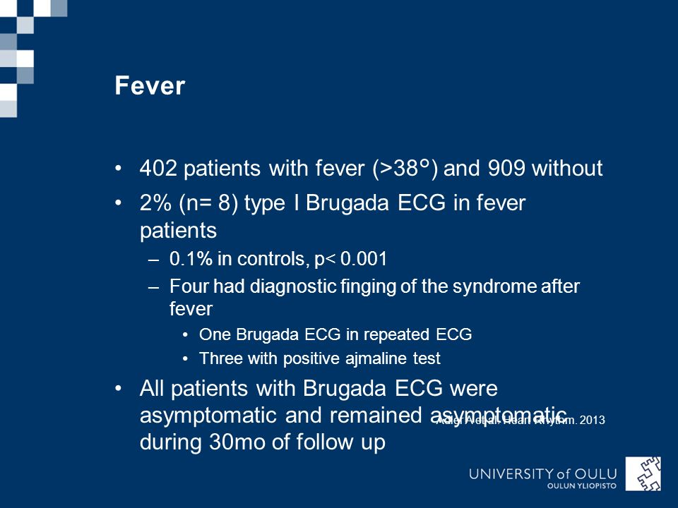 Fever 402 patients with fever (>38°) and 909 without