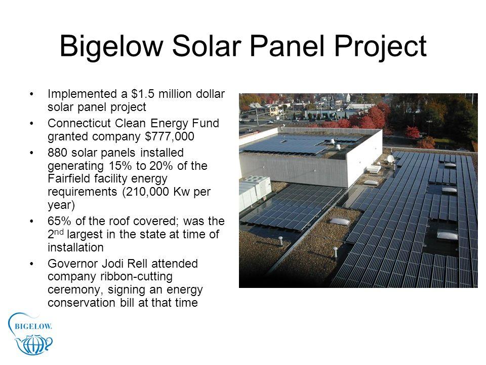 Bigelow Solar Panel Project