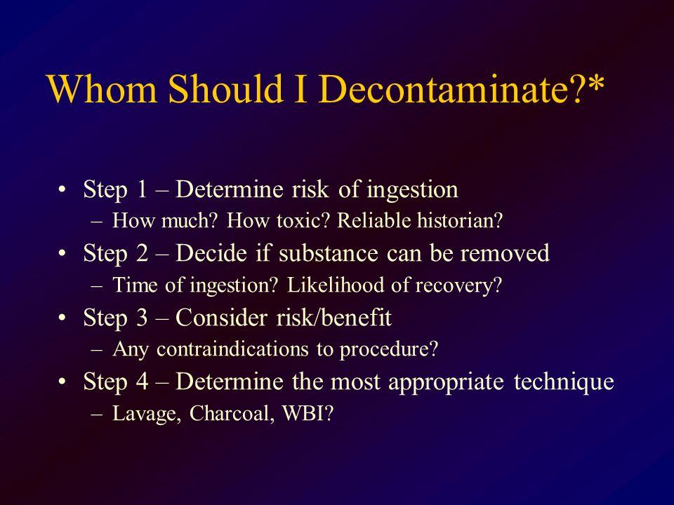 Whom Should I Decontaminate *