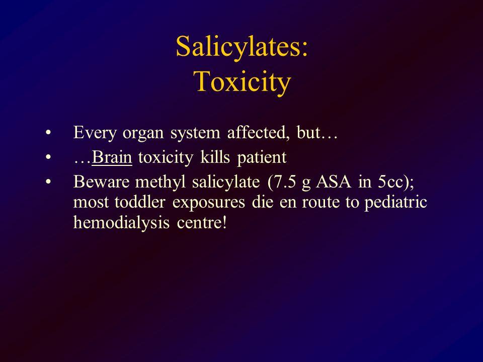 Salicylates: Toxicity