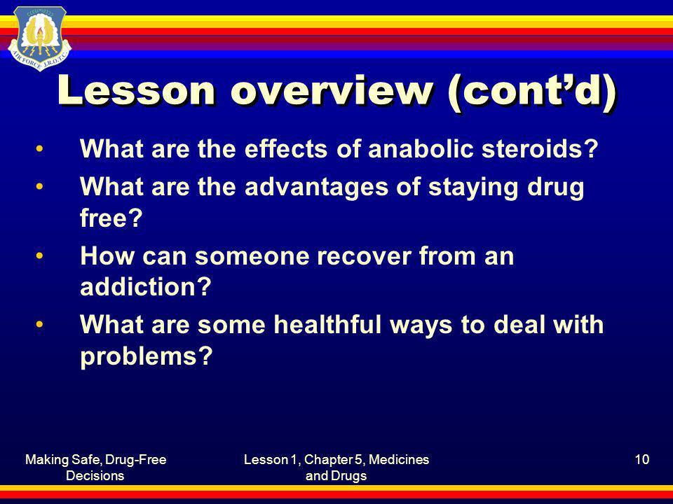 Lesson overview (cont'd)