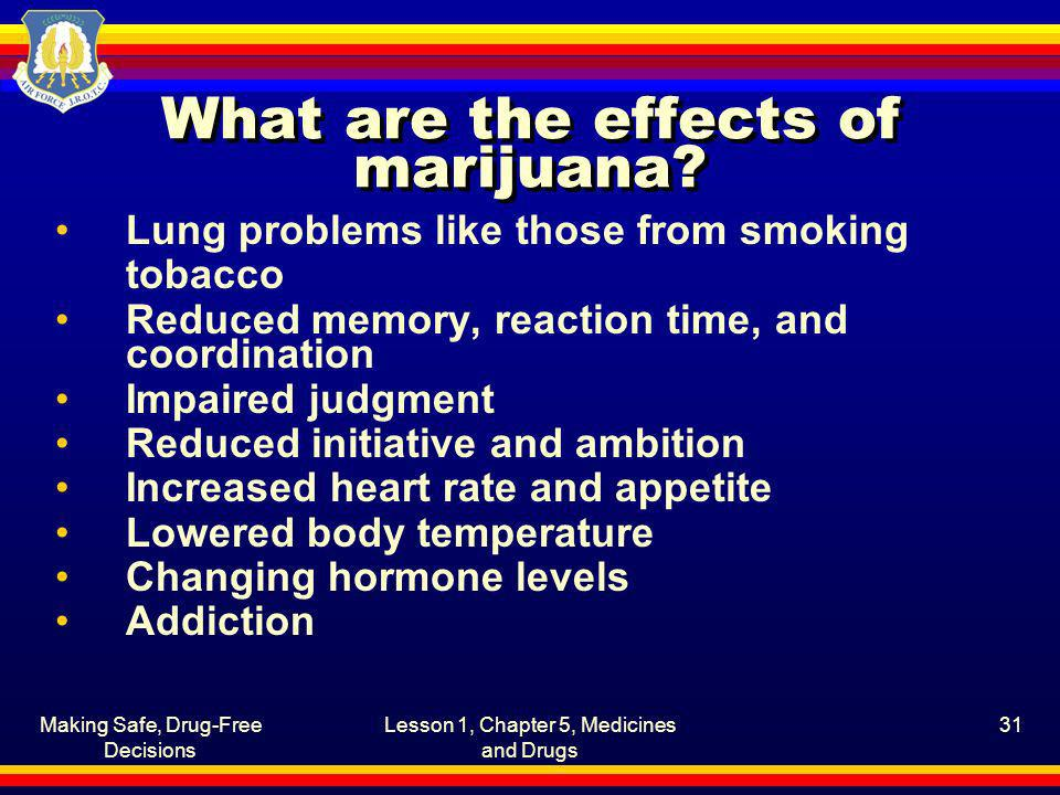 What are the effects of marijuana