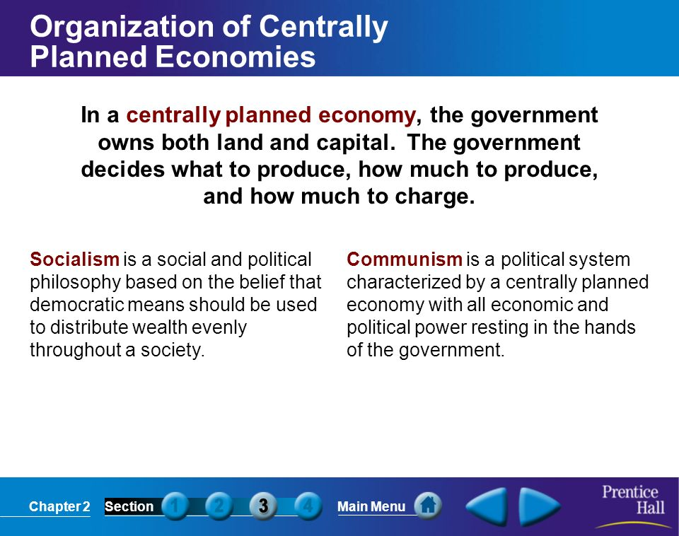 Organization of Centrally Planned Economies