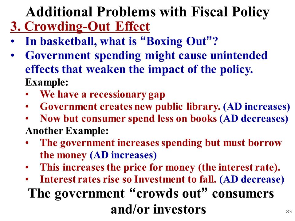 Additional Problems with Fiscal Policy