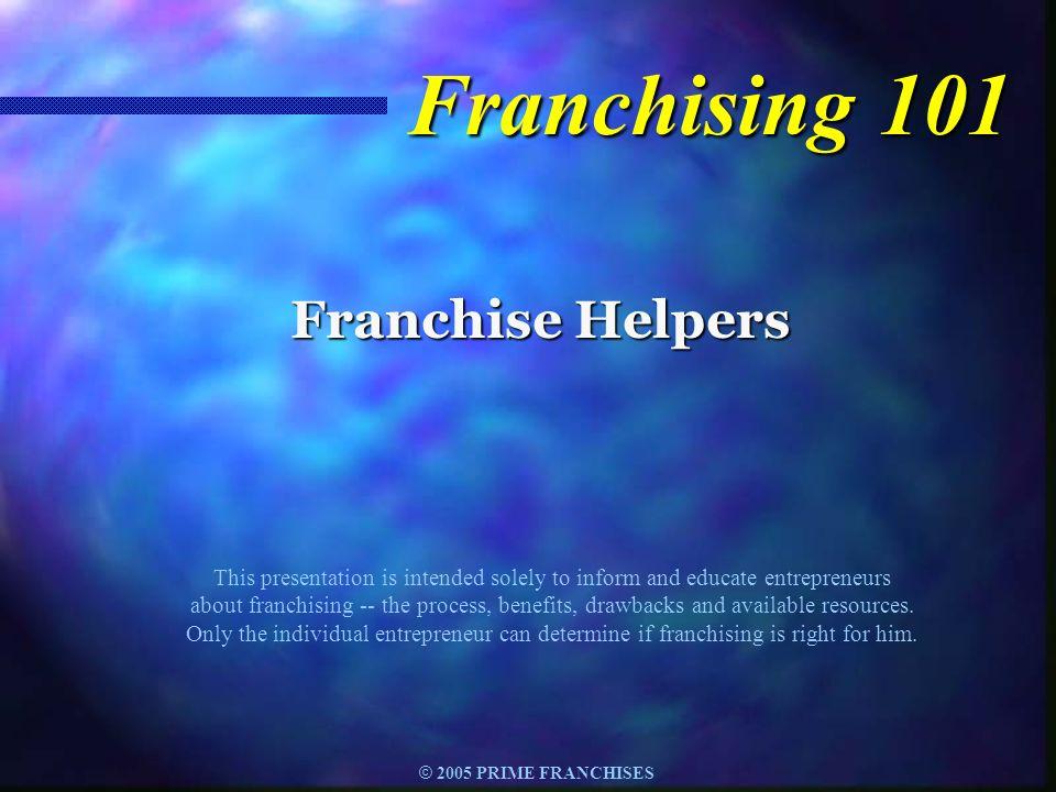 Franchising 101 Franchise Helpers