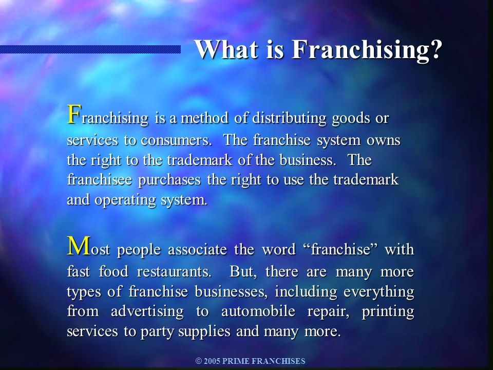 What is Franchising