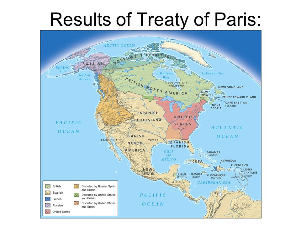 Results of Treaty of Paris: