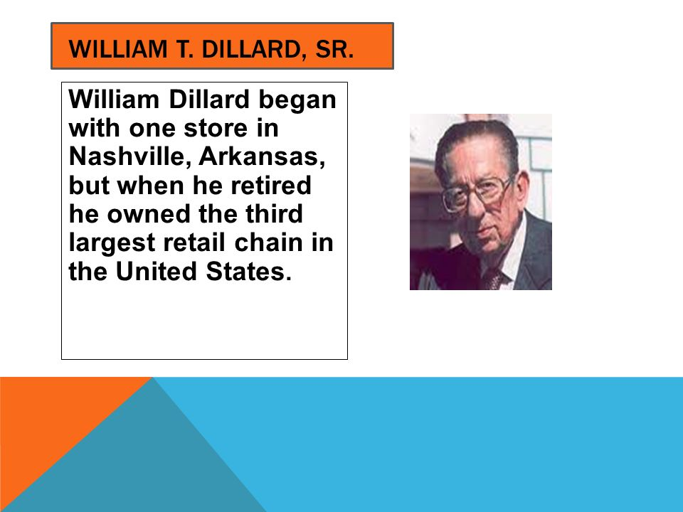William T. Dillard, Sr.