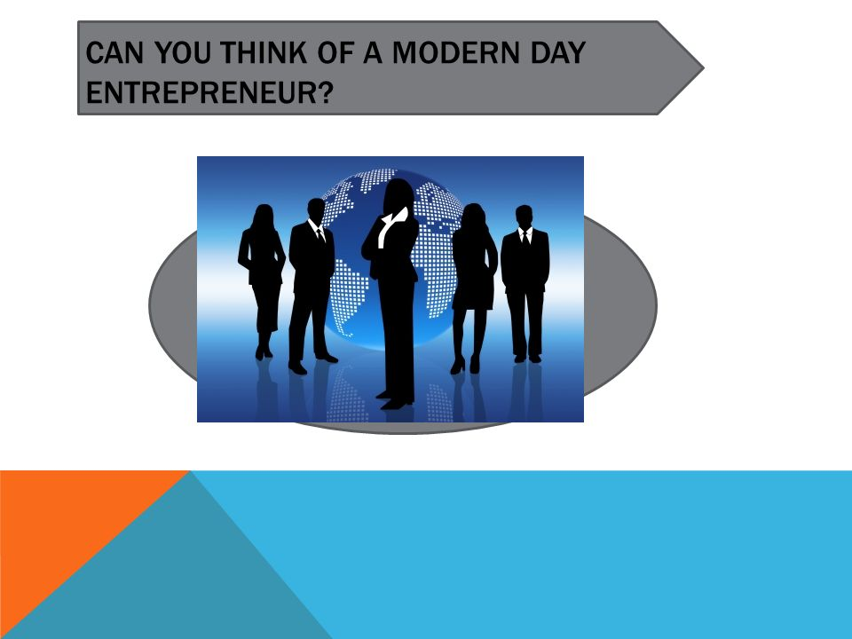 CAN YOU THINK OF A MODERN DAY ENTREPRENEUR