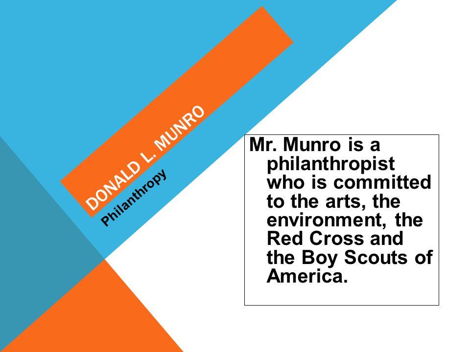 Donald L. Munro Philanthropy.