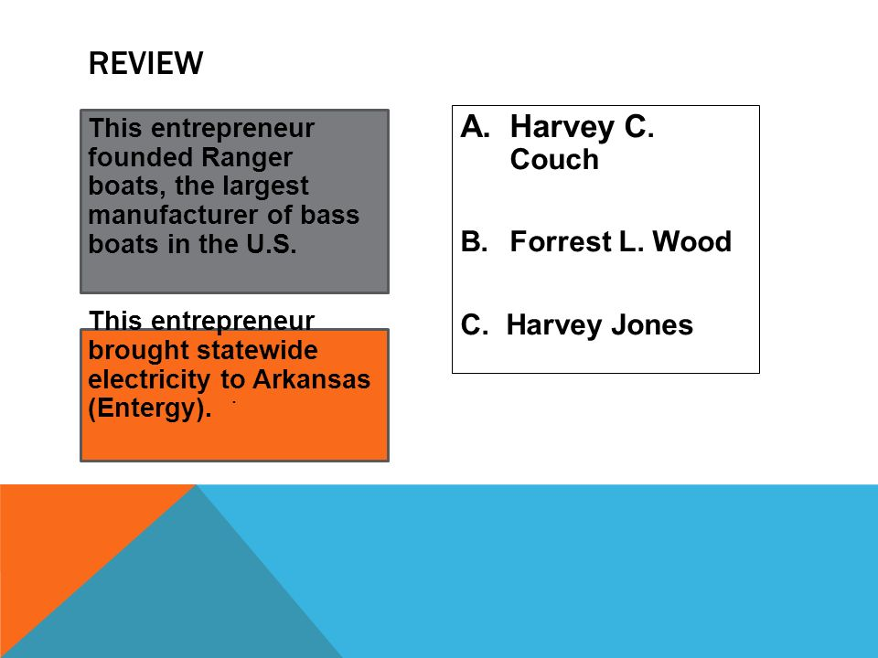 Review Harvey C. Couch Forrest L. Wood C. Harvey Jones