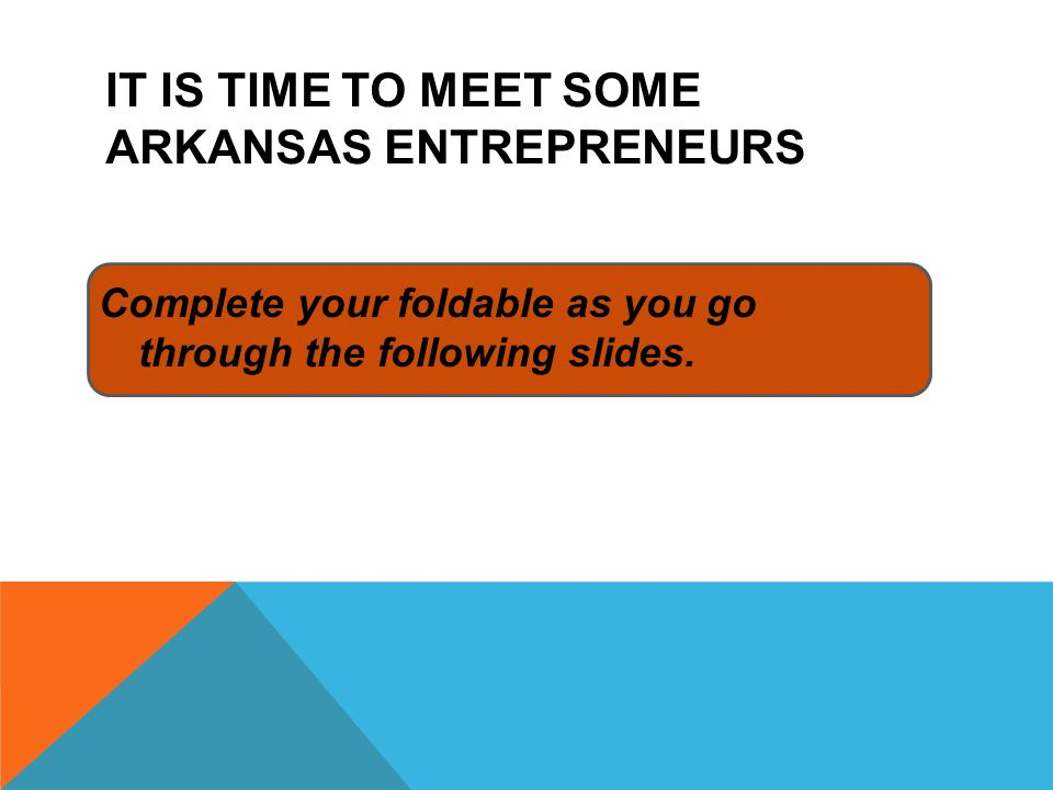 It is time to meet some Arkansas entrepreneurs