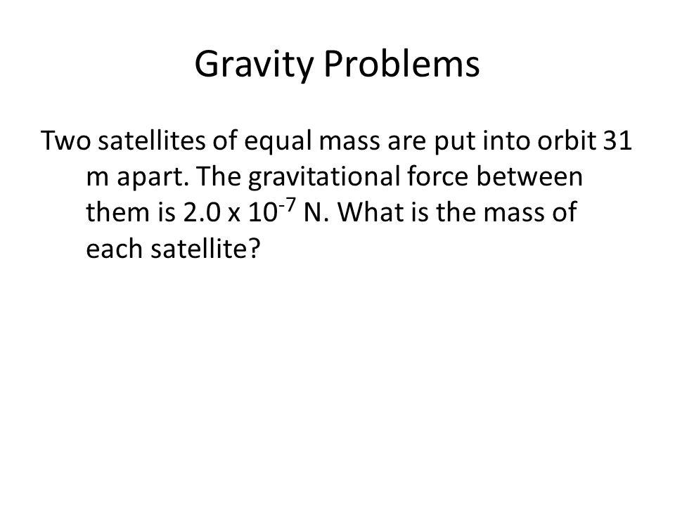 Gravity Problems