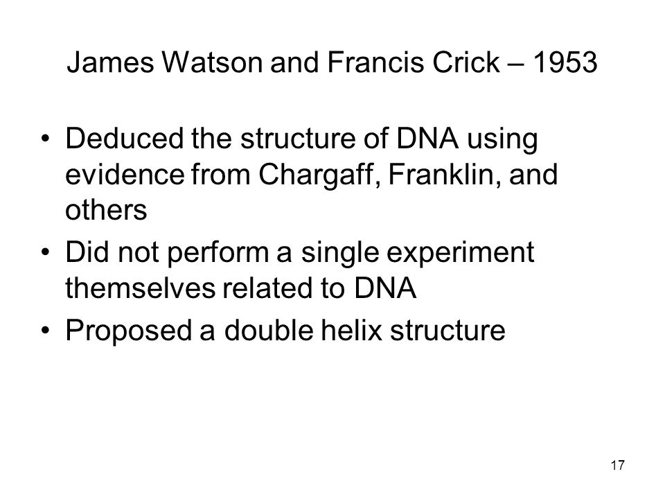 James Watson and Francis Crick – 1953