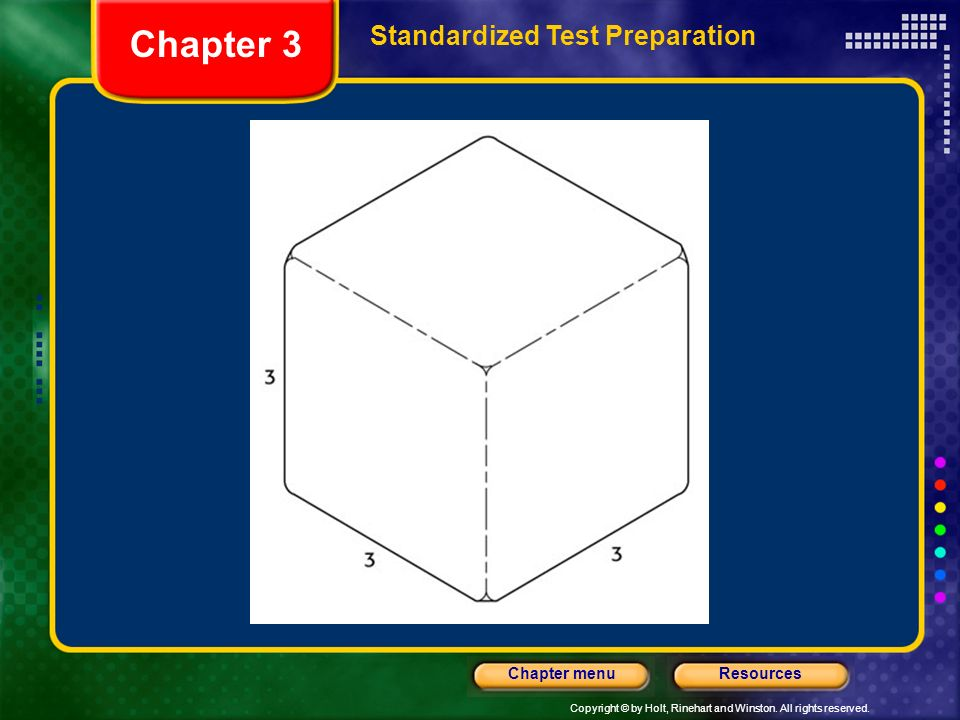 Chapter 3 Standardized Test Preparation