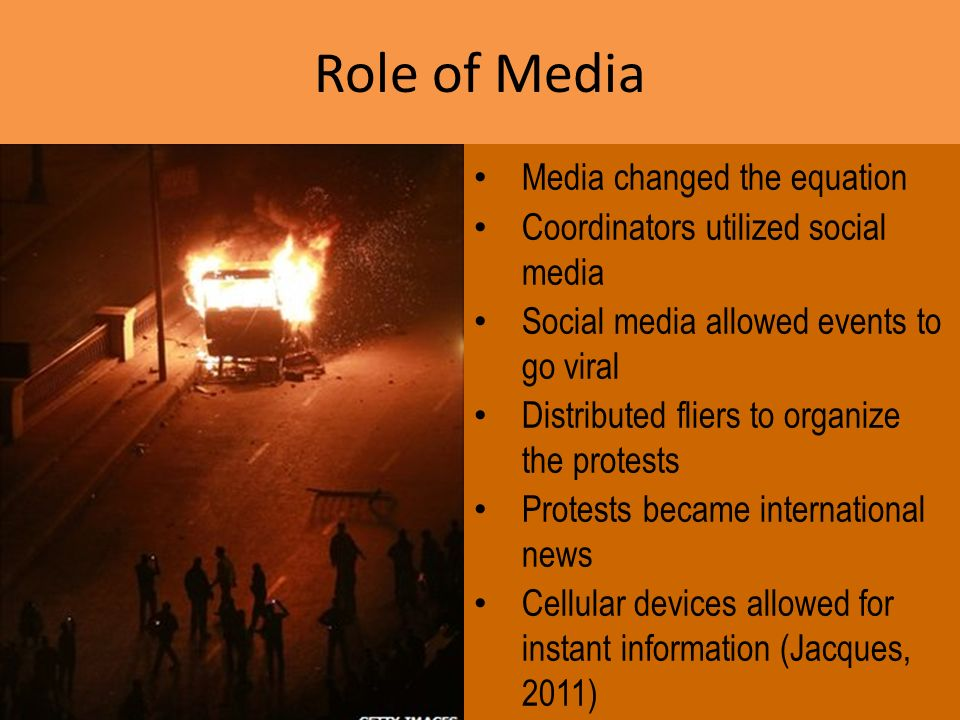 Role of Media Media changed the equation