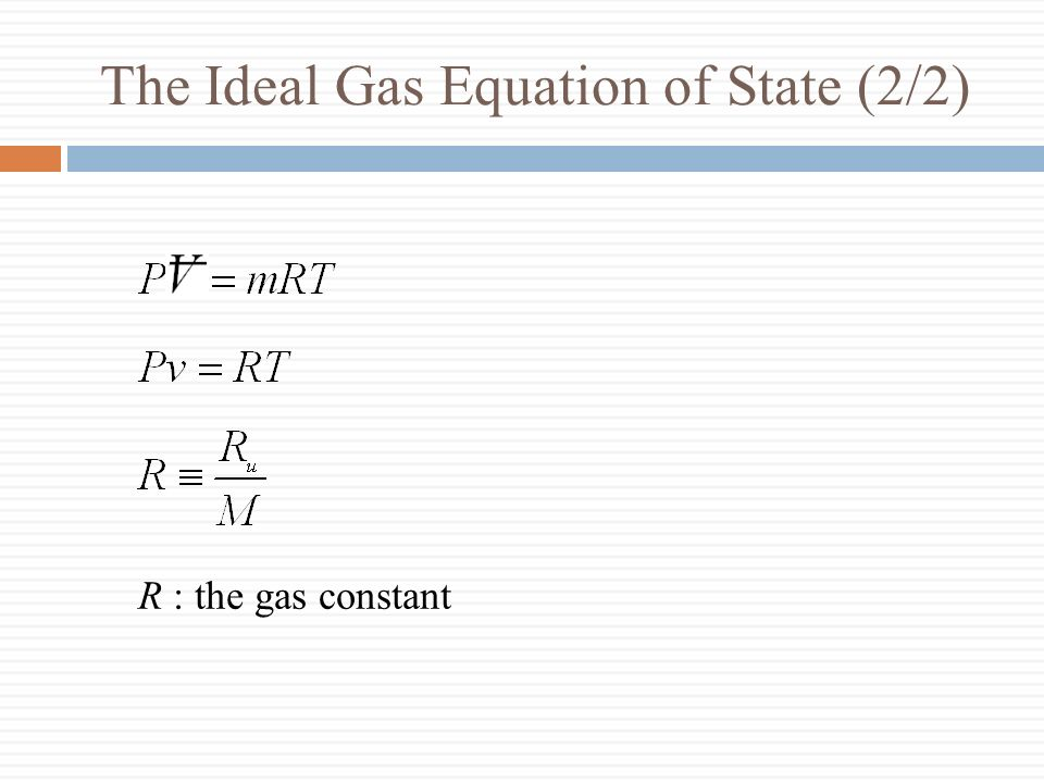 The Ideal Gas Equation of State (2/2)