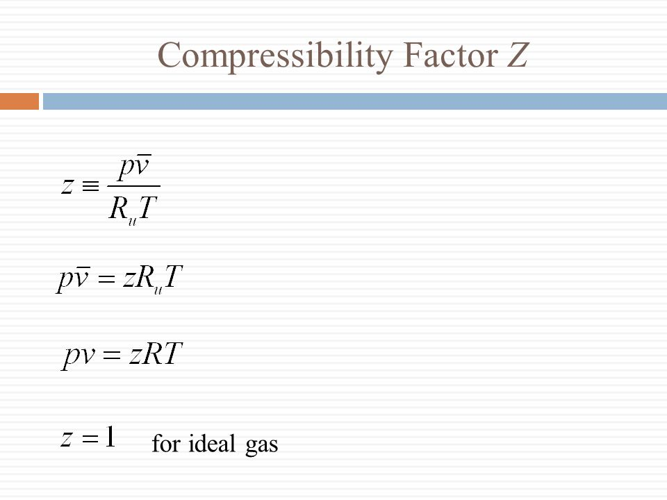 Compressibility Factor Z