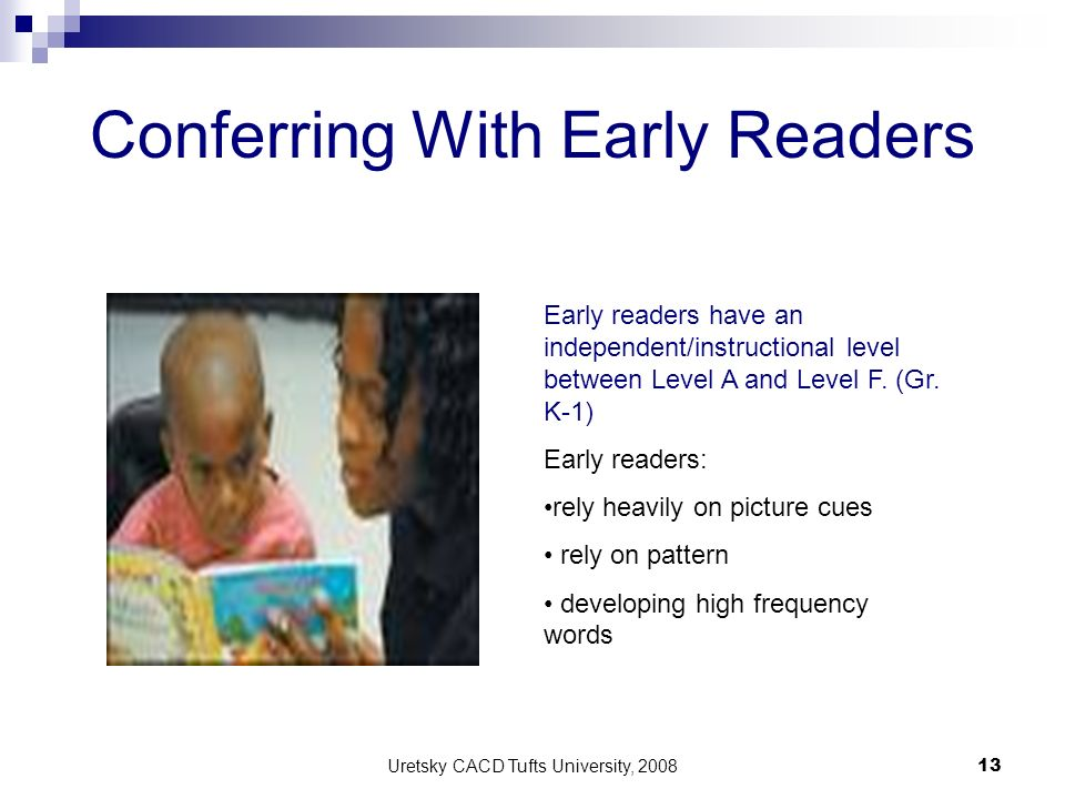 Conferring With Early Readers
