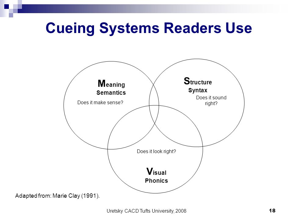 Cueing Systems Readers Use
