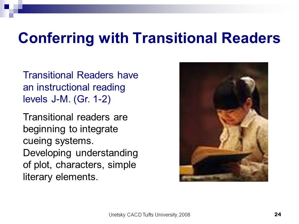 Conferring with Transitional Readers