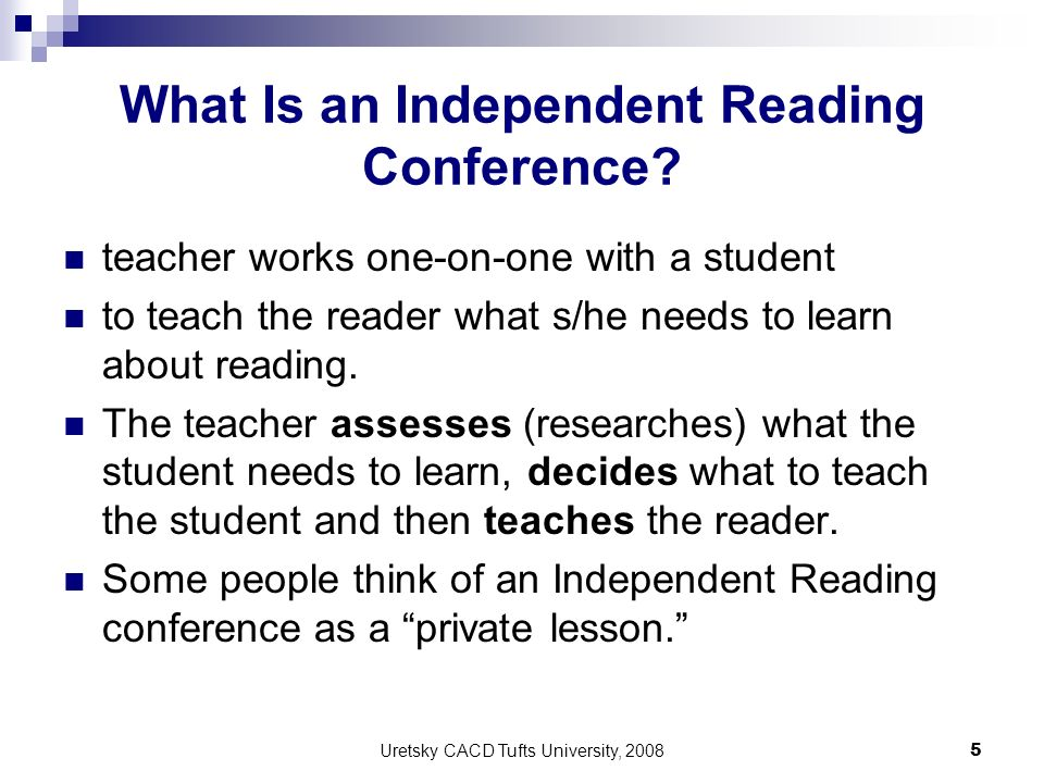 What Is an Independent Reading Conference