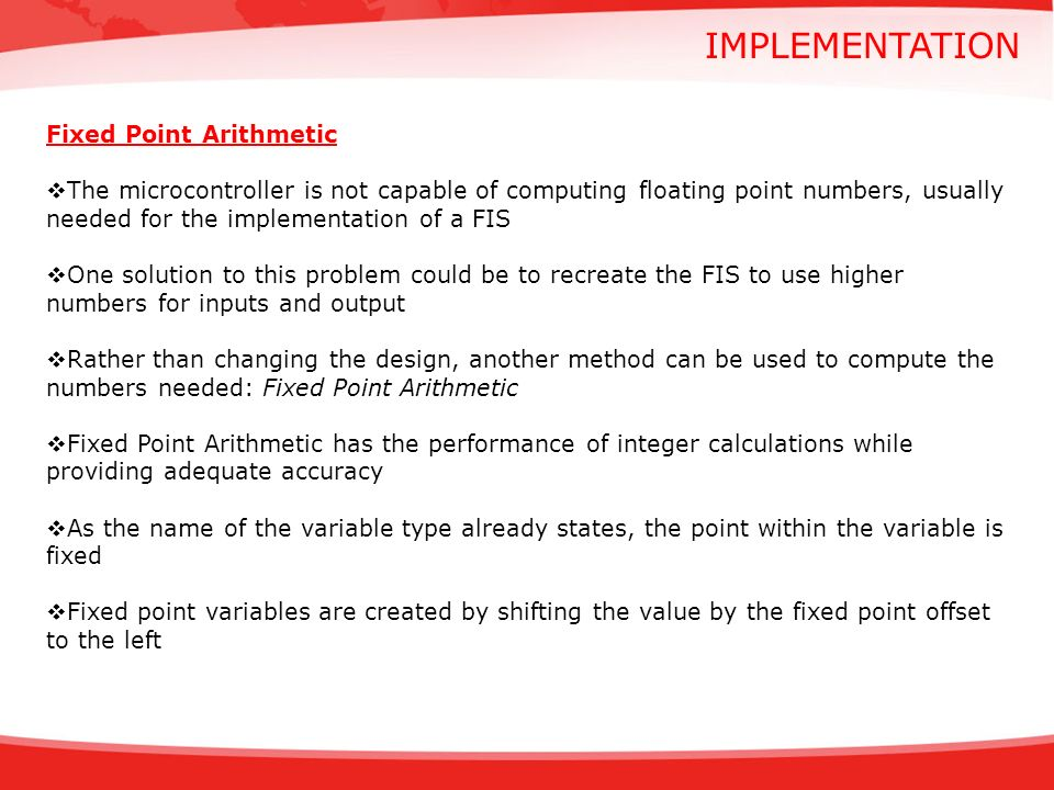 implementation Fixed Point Arithmetic