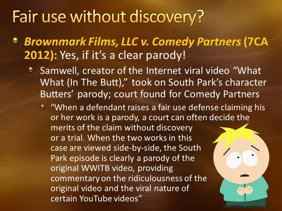 Fair use without discovery