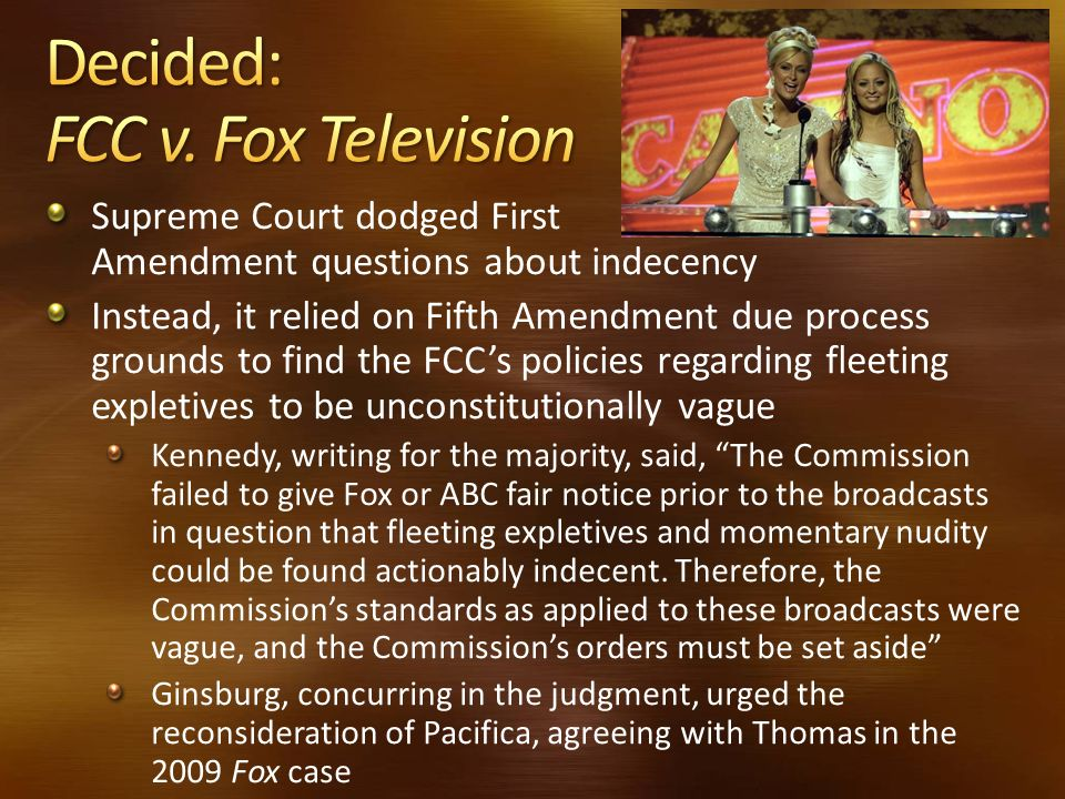 Decided: FCC v. Fox Television