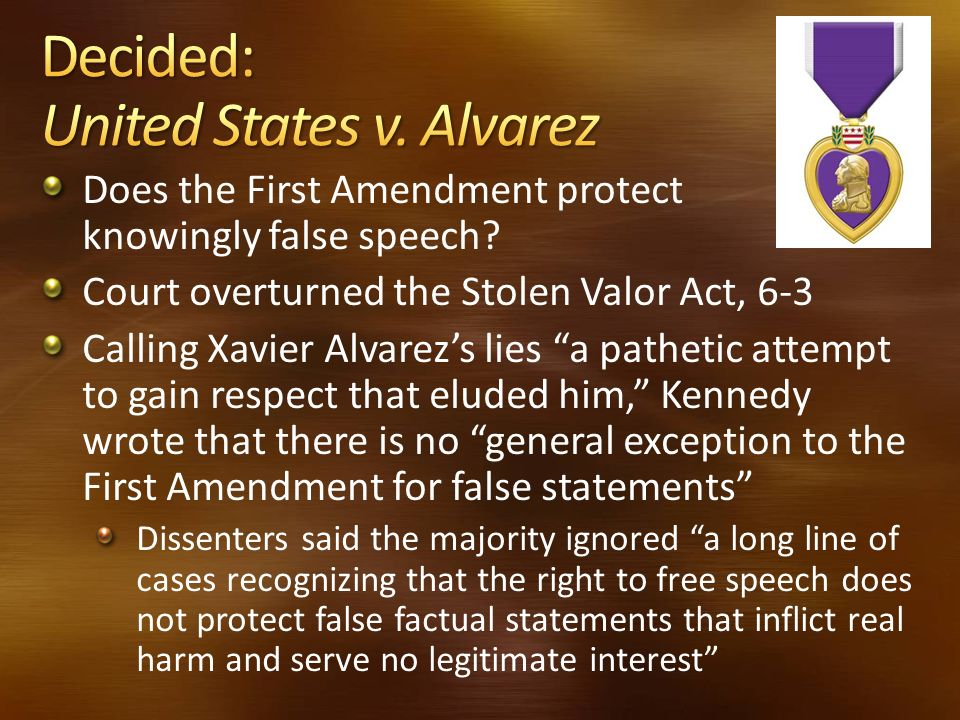 Decided: United States v. Alvarez