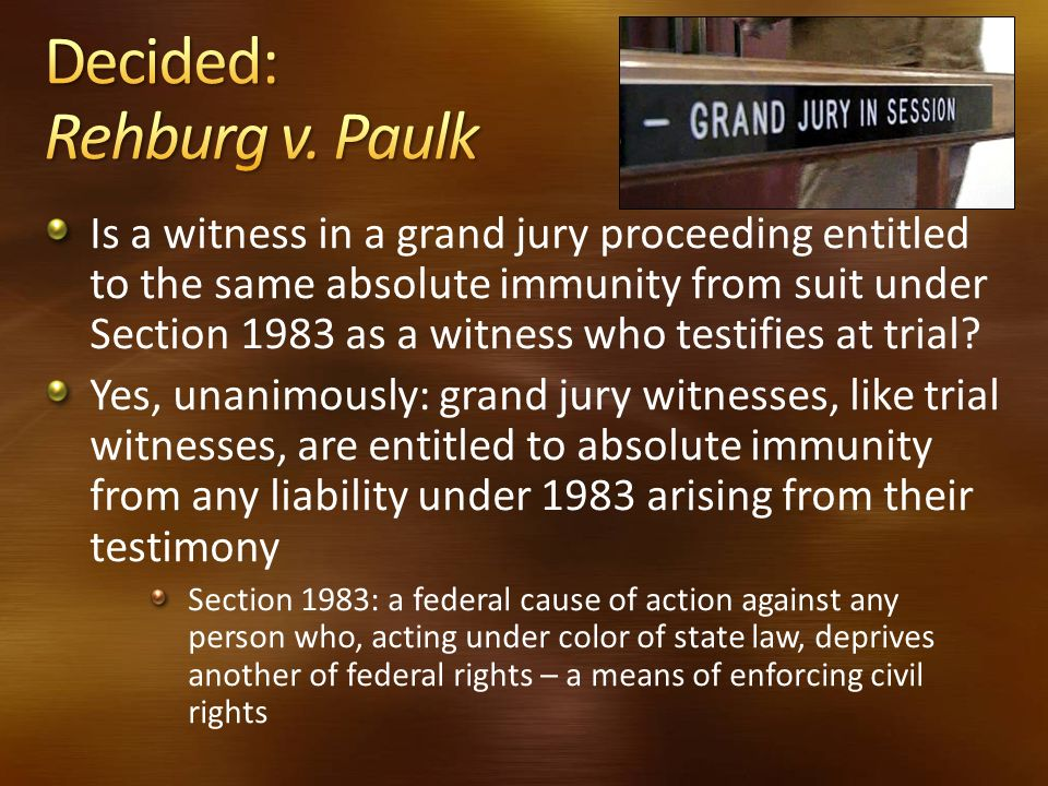 Decided: Rehburg v. Paulk