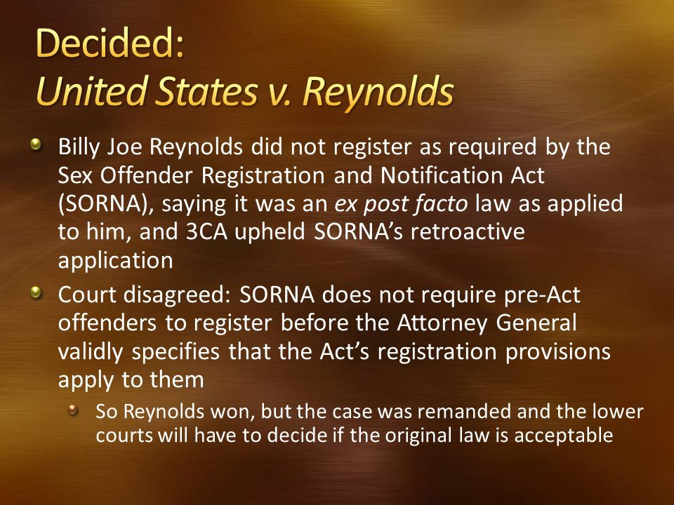 Decided: United States v. Reynolds