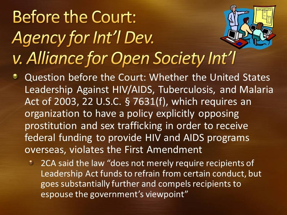 Before the Court: Agency for Int'l Dev. v
