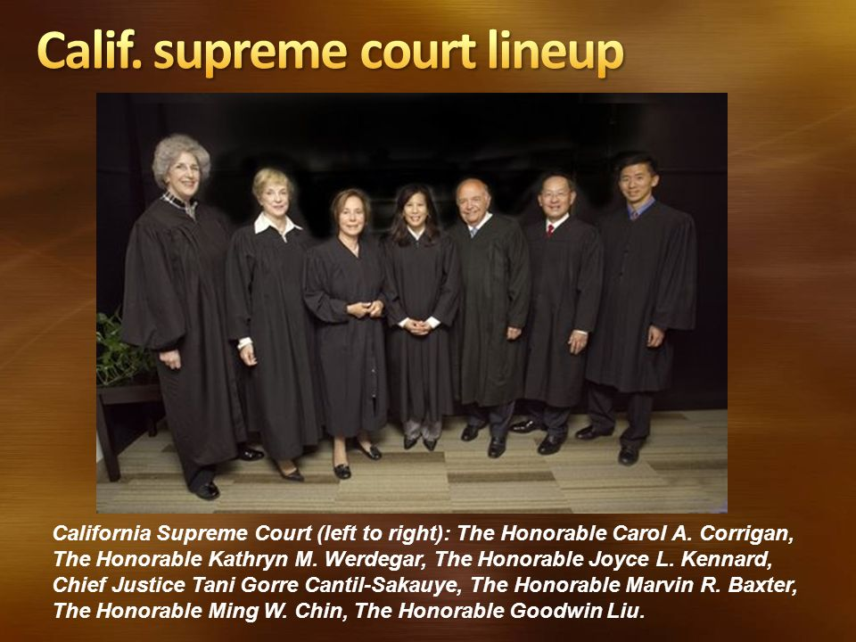 Calif. supreme court lineup