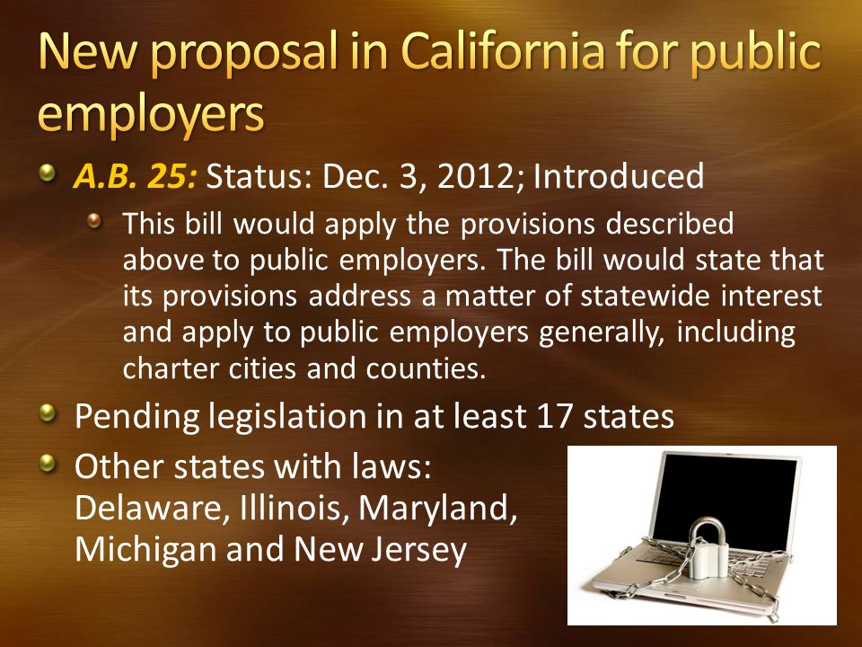 New proposal in California for public employers