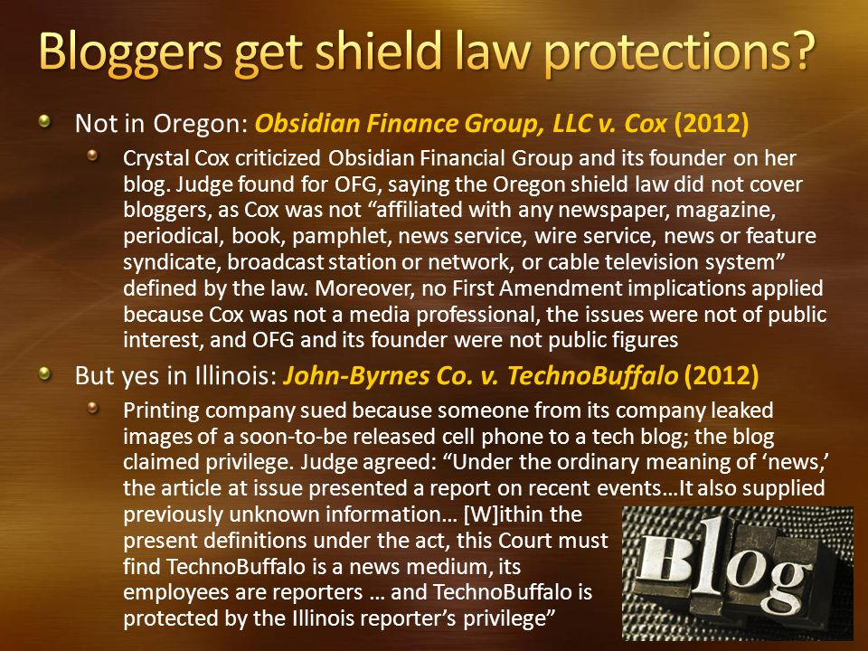 Bloggers get shield law protections