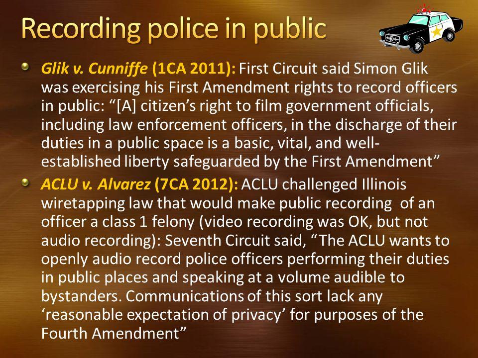 Recording police in public