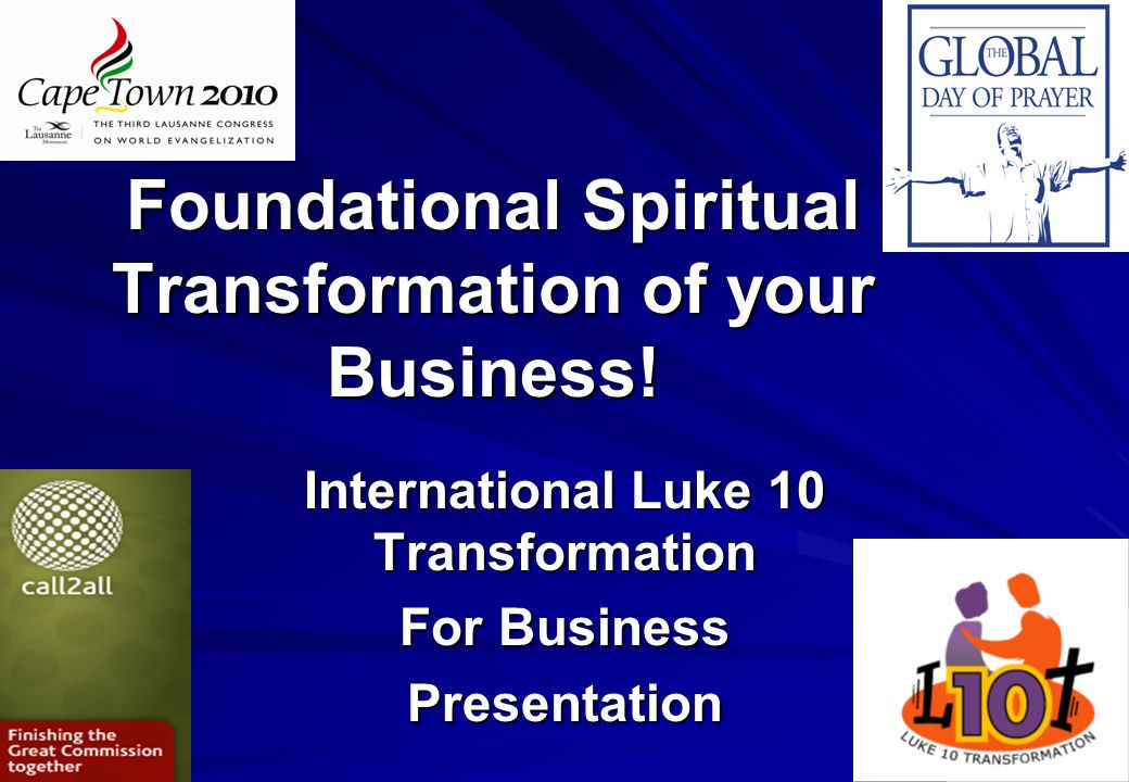 Foundational Spiritual Transformation of your Business!