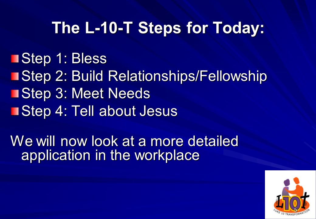 The L-10-T Steps for Today: