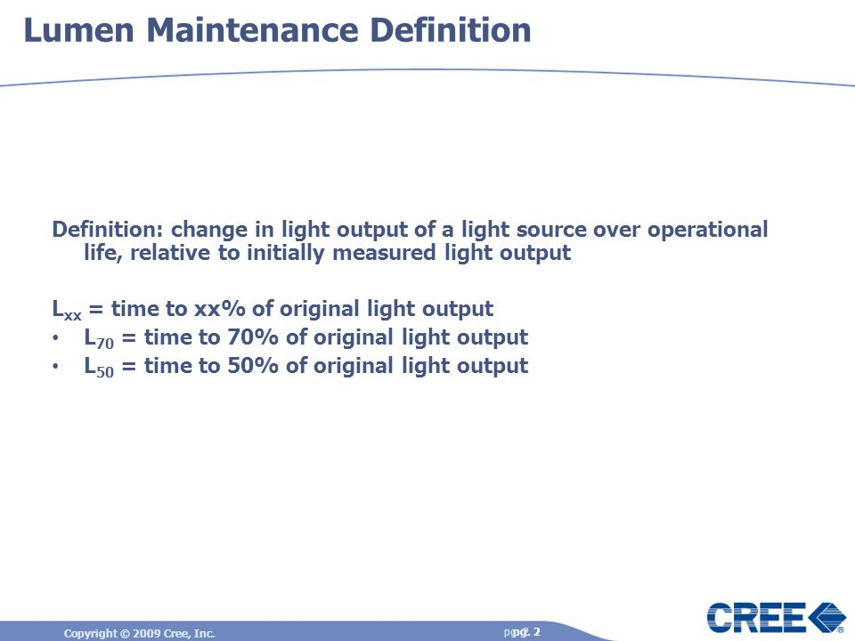 Lumen Maintenance Definition