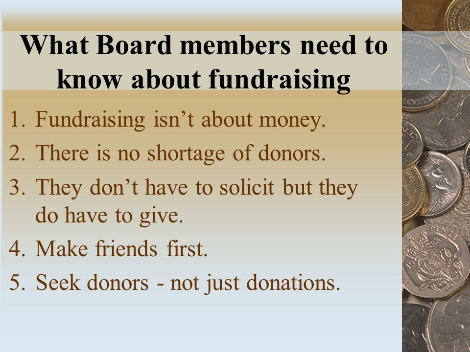 What Board members need to know about fundraising