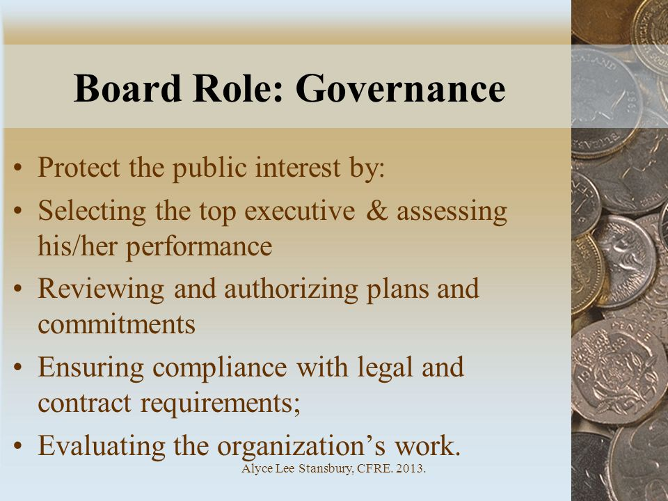 Board Role: Governance