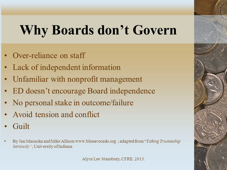 Why Boards don't Govern